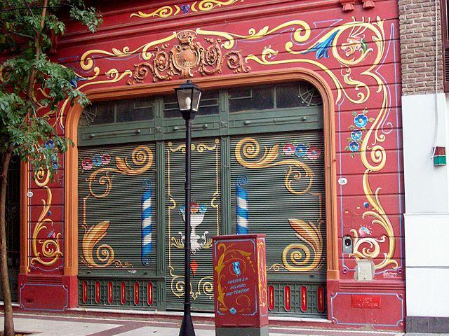 "Buenos Aires, rua Jean Jaures 709 (""Paseo del Filete"") fachada pintada por Tulio Ovando (crédito: CC BY-SA 3.0, https://commons.wikimedia.org/w/index.php?curid=1976915)"