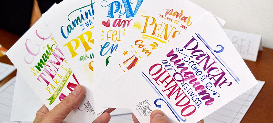 Desenhando Letras – Workshop de Lettering com Juliana Moore