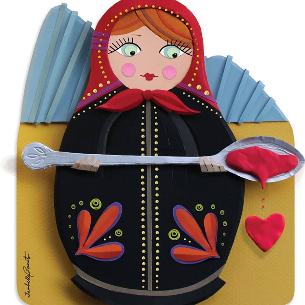 Ilustração em Escultura de Papel